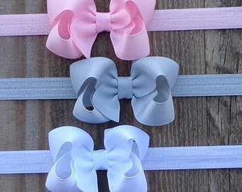 Hair Bows on Headbands~Baby Headbands~Hair Accessories for Baby~Girls Headbands~Toddler Hair Accessories~Baby Gift Set~Toddler Hair Bow~