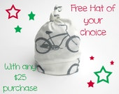 FREE Hat with any 25 Dollar Purchase - See directions in description