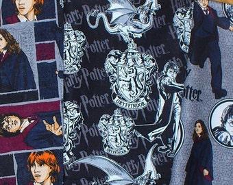 Harry Potter Fabric, 3 Fat Quarters, Harry, Hermoine, Ron,  Harry Potter Characters, Fat quarters, Cotton Fabric