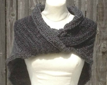 Outlander Inspired Claire's Shawl, Hand crocheted My Version Sassenach Wrap Shaulette Cape Handmade
