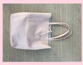 TOTE leather bag in POWDER PINK. Soft natural  leather bag
