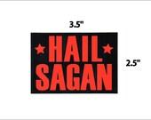 Hail Sagan funny black and red vinyl sticker decals