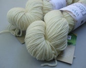 RESERVED for Rosemary British Bluefaced Leicester Lustre Double Knit. Natural Ecru