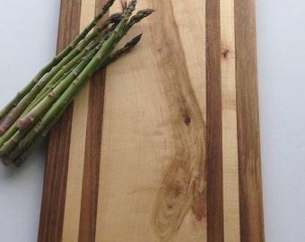 Modern Cutting Board, presentation platter, made from wood, kitchen food preparation