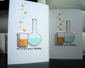 Funny Valentine Card, Anniversay Card, Valentine's Day Card, I Love You Card, Chemistry Card, Nerdy Card