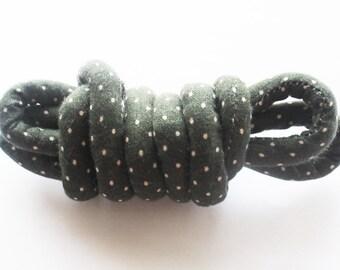 fabric cord, craft cord, fabric rope, bracelet cord, necklace cord, fabric jewelry, wrap bracelet, diy jewelry, polka dot fabric mc28