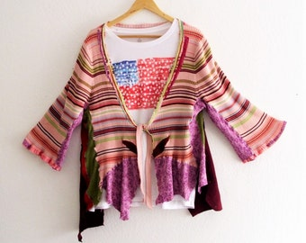 Gypsy Tattered Bolero. Art to Wear. Ethical Fashion