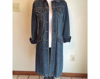90s Long Denim Jacket