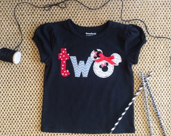 Minnie Mouse Birthday Shirt Two Second