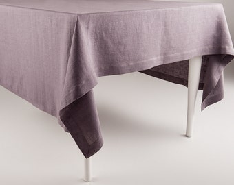 Light purple tablecloth Linen tablecloths by Lovely Home Idea