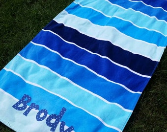 Monogrammed Personalized Beach Towel