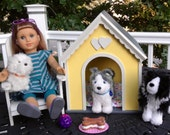 Large yellow doll dog or pet house for American girl pets.