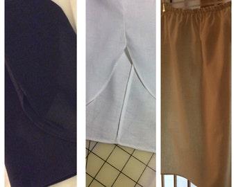 Ladies 100% Cotton Half Slips Black, White & Nude
