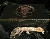 Antique Voodoo Chicken Foot Storage Box at Gothic Rose Antiques