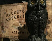 Vintage Owl Statue Old Garden Owl at Gothic Rose Antiques