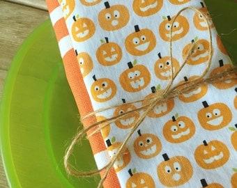 Halloween Placemat and Napkin Set - Pumpkins