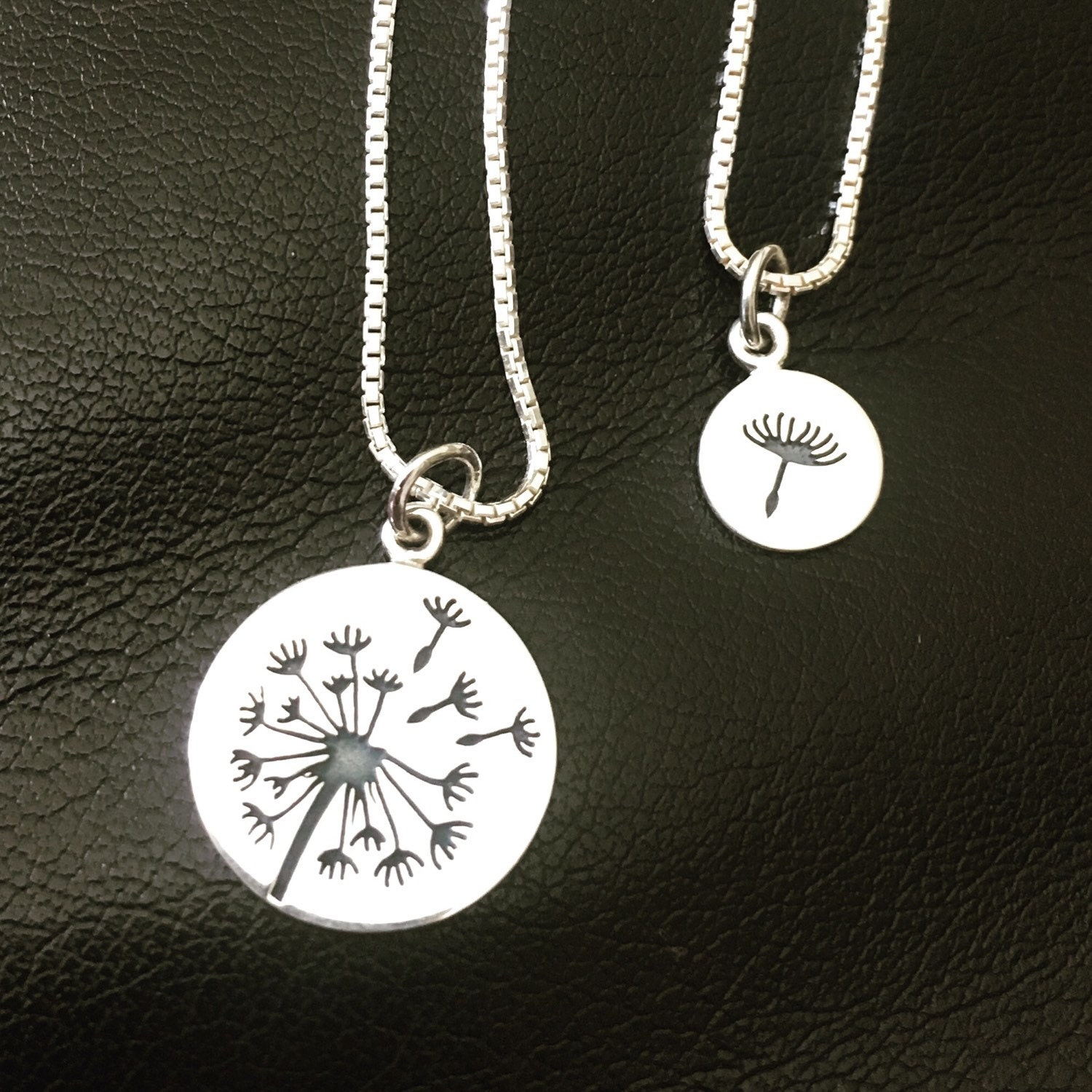 Dandelion Mother Daughter Necklaces - Mommy and Me ...