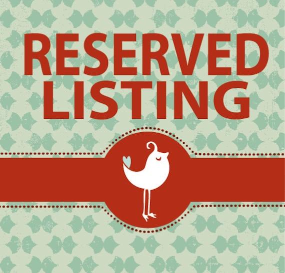 RESERVED listing for JSpeegle
