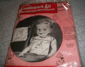 Vintage Disney Bucilla Embroidery Towel & Bib Kit 2407