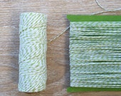 Green and White Baker's Twine green apple twine divine twine wedding green twine