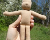 KIT to make an 8 inch Waldorf pocket doll. Kit includes PDF pattern and instructions for doll
