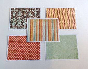 Note Card Set, Blank Note Cards, Note Cards, Thank You Notes, Blank Cards, Set of 5 Note Cards with Matching Envelopes, Stationary, Waverly