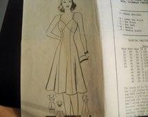 Early 1940 Mail Order Pattern 8699 Size 16 Womens Full Slip, Bra, Panties-Intimate Apparel Bra Sewing Pattern Supply Unprinted Pattern c