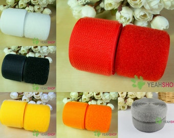50mm / 2 Inch Sew on Velcro Hook and Loop Tape - 100% Nylon - 1 Meter - 6 Colors Available