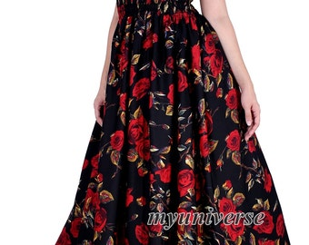 Prom Dress Formal Gown Maxi Dress Women Plus Sizes Clothing Long Black Red Rose Floral Maternity Dress Party Wedding Guest Vintage Style