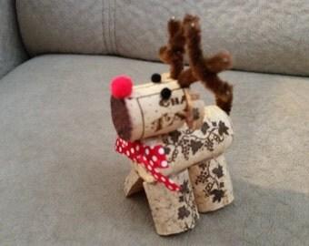 Cork Reindeer Ornament or Figurine