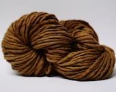 Single Ply Yarn Merino Slub Hand Dyed 44sp15028 Caramel