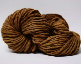 Single Ply Yarn Merino Slub Hand Dyed 44sp15028 Caramel
