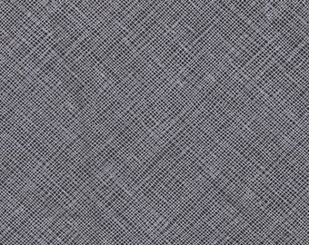 Architextures Crosshatch in Charcoal, Carolyn Friedlander, Robert Kaufman Fabrics, 100% Cotton Fabric, AFR-13503-184 CHARCOAL