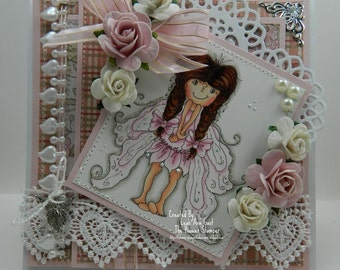 Fairy Wings Handmade OOAK Keepsake Card