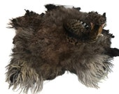 Cat Bed - Felted Wool Fleece Rug - Navajo Churro Dark Gray - Supporting US Small Farms - Not a Sheepskin - Better