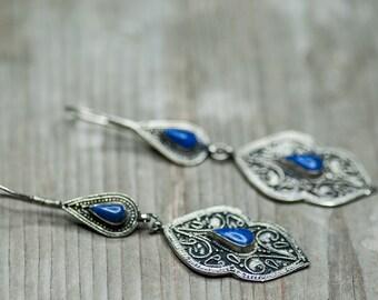 Long Earrings, Vintage Jewelry, Dangle Earrings, Gift For Mother, Gift For Wife, Vintage Earrings, Drop Earrings, Large Earrings, Tribal
