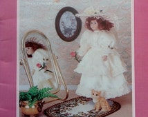 """TD Creations 16"""" Fabric Pattern For Porcelain Look Doll - Fabric Doll Dress Clothes Clothing Pattern"""