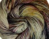 hand dyed yarn MALEFICIENT pick your base - sw merino bfl silk nylon stellina fingering dk