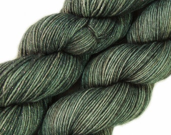 hand dyed yarn GHOST ARMY pick your base - sw merino bfl silk nylon stellina fingering dk