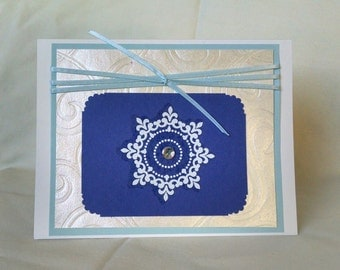 Shimmery Snowflake Greeting Card