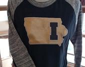 Iowa T-Shirt,  Sports, baseball shirt.