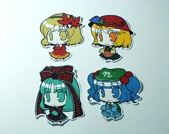 Touhou Project Art Sticker 8Pcs Nitori, Momichi, Sanae, Kanako Free shipping