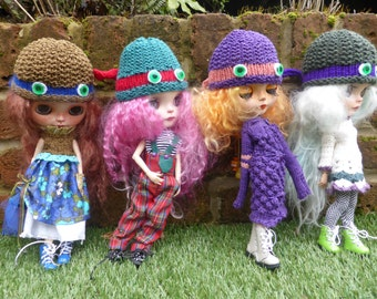 Blythe OOAK Ninja Knitted Hats (BD4116)