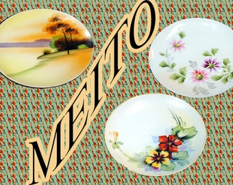 Three Meito Dessert Plates