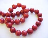 Jade Beads Round Red 10MM