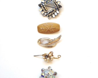 Wholesale Women's Vintage Brooches x5