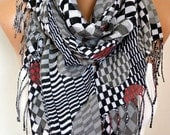 Gray Tones Cotton Scarf, Shawl, Fall Scarf, Cowl Oversized Wrap Gift Ideas For Her Women Fashion Accessories Mother Day Gift Women Scarves