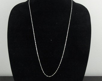 """14k White Gold 30"""" Long Rope Chain Necklace 1.5mm 3.7grams Italy"""