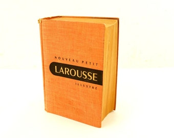 Vintage Nouveau Petit Larousse Illustre French Illustrated Dictionary (c.1952) - Collectible Dictionary, Paper Ephemera, Alphabet Pages