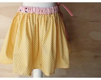 Girls Skirt (yellow polka dot)